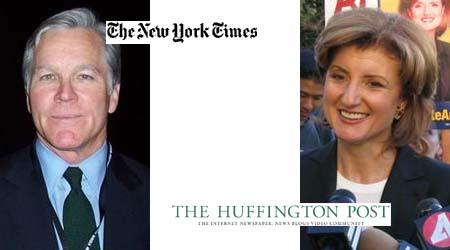 Bill Keller y Arianna Huffington, los polemistas de la agregación (Fotos de Wikipedia)