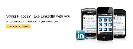 La imagen muestra la pantalla de salida desde LinkedIn en la que se pide al usuario que siga conectado desde el móvil
