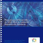 Portada del Manual de Desarrollo de Sitios Web de Honduras