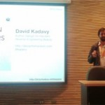 David Kadavy durante su taller en el seminario Webprendedor 2011
