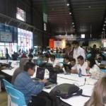Vista general del recinto donde se lleva a cabo la Campus Party en Quito, Ecuador.