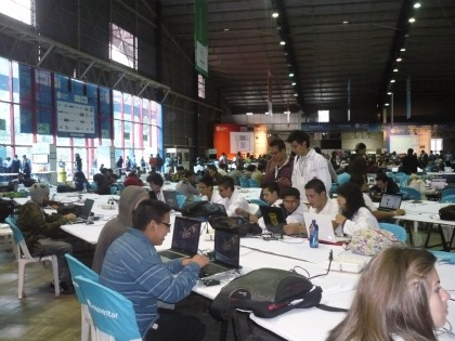 Vista general del recinto donde se lleva a cabo la Campus Party en Quito, Ecuador.