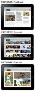 Prototipos de la prueba de eyetracking en tablets