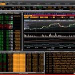 El terminal del sistema Bloomberg de noticias económicas