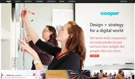 Página principal de Cooper.com