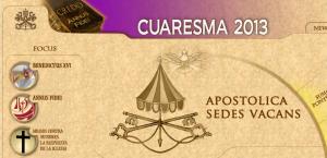 El sitio web de El Vaticano indica que la sede está vacante, ya que no hay un pontífice.