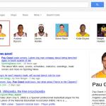 La imagen muestra la página de resulatdos de Google con contenidos relacionados