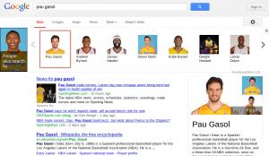 La imagen muestra la página de resultados de Google con contenidos relacionados