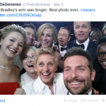 Esta fue la publicación en Twitter, con la que Ellen motró la foto al mundo