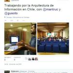 El tuit que muestra el evento, con Javier Velasco a la cabeza.