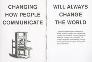 Imagen de una de las páginas del libro rojo de Facebook