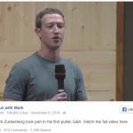 Mark Zuckerberg respondiendo preguntas acerca de Facebook