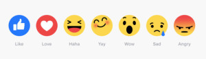 Todas las emociones de Facebook en una barra