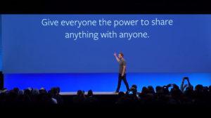 La visión de facebook en un verbo: conectar