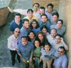 El grupo de Medios Digitales de Copesa en abril del año 2000.