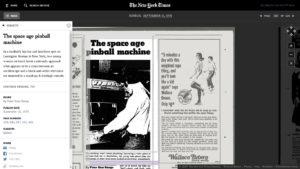 La interfaz del sistema de revisión del archivo del diario The New York Times.