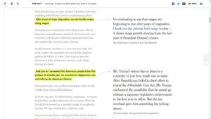 La imagen muestra una de las páginas del sitio del diario The New York Times