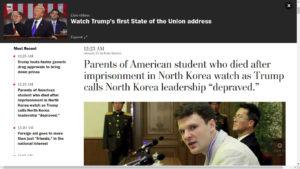 La imagen muestra una de las páginas del sitio del diario The Washington Post